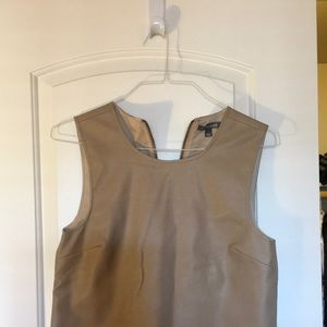 Tan Faux Leather Tinley Road Top